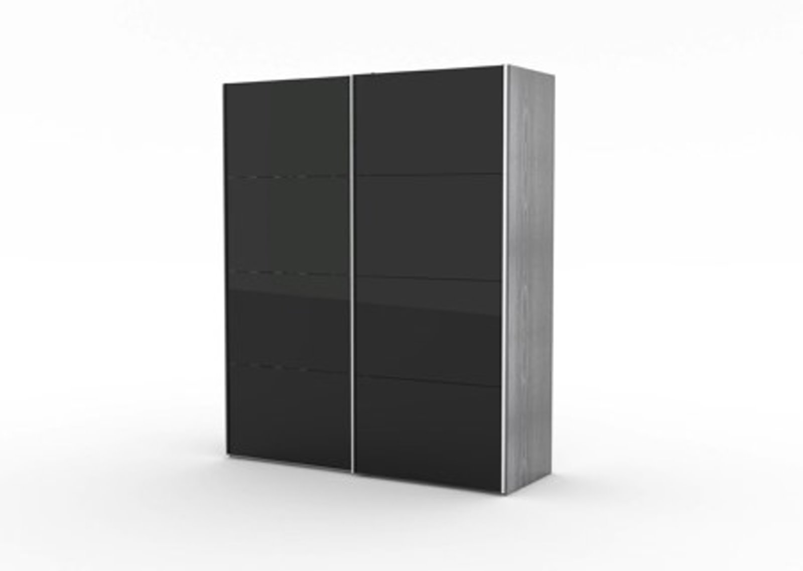 2 t riger kleiderschrank infiniti esche dekor schwarz schwarz hochglanz ebay. Black Bedroom Furniture Sets. Home Design Ideas