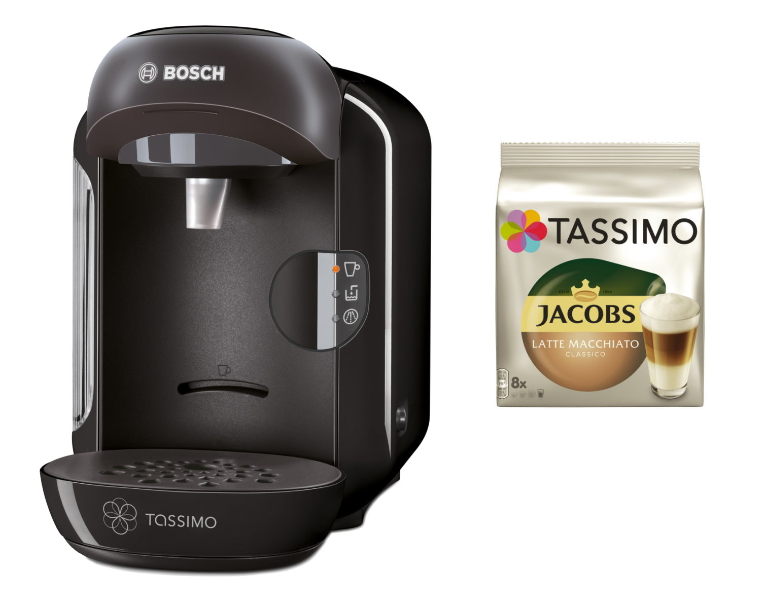 bosch tassimo vivy 20 eur gutscheine jacobs tdiscs hei getr nkmaschine ebay. Black Bedroom Furniture Sets. Home Design Ideas