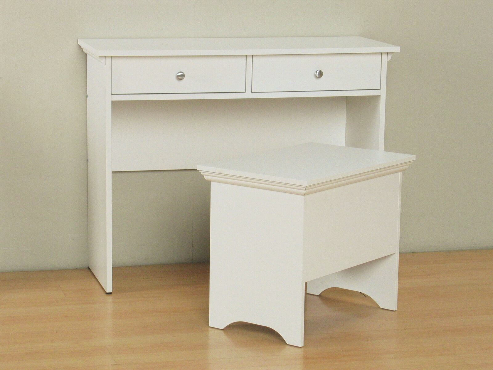 coiffeuse tabouret capri coiffeuse bureau chaise table de bureau table blanc ebay. Black Bedroom Furniture Sets. Home Design Ideas