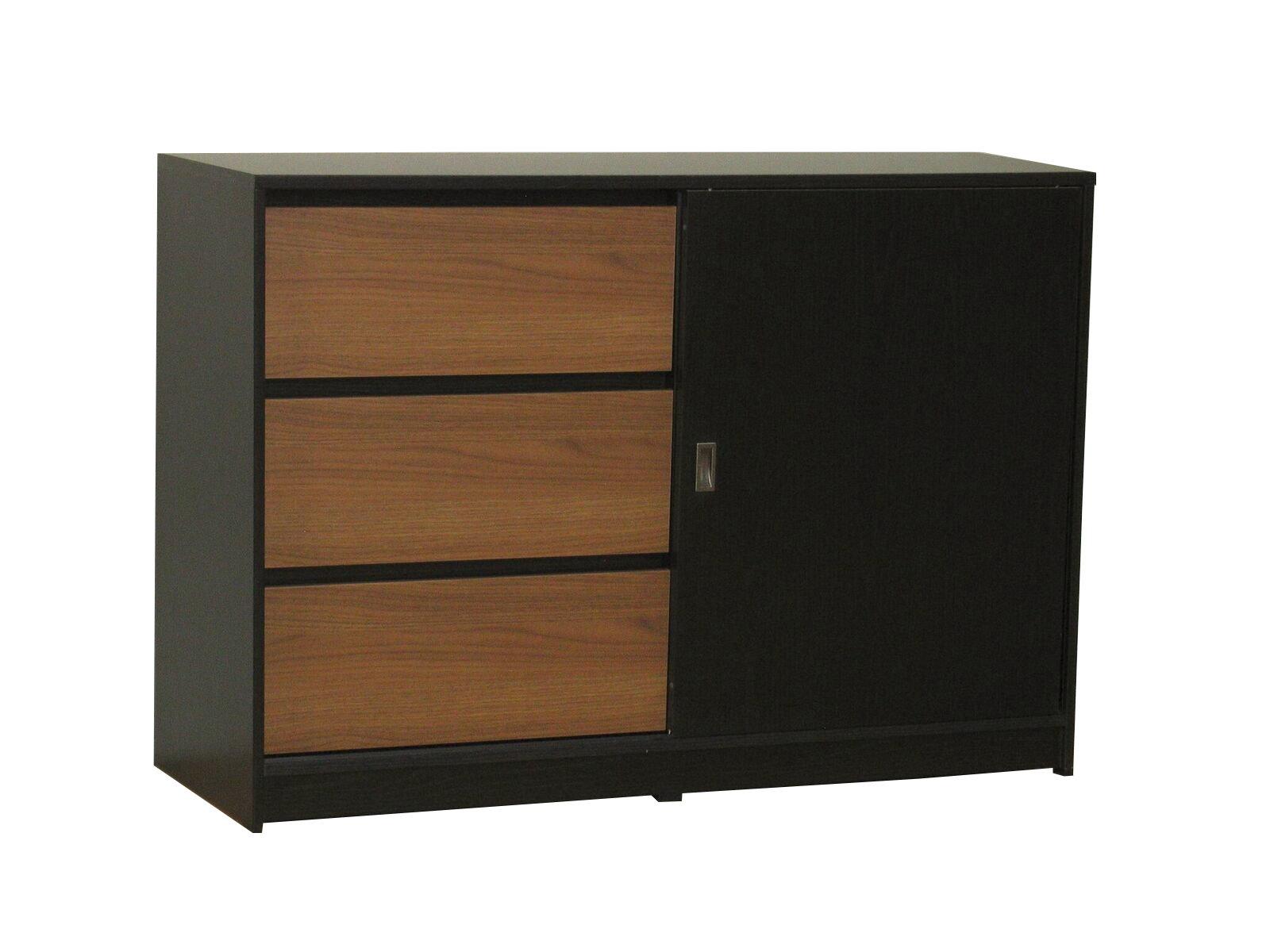 kommode cicci sideboard schubladen schrank highboard anrichte schwarz walnuss ebay. Black Bedroom Furniture Sets. Home Design Ideas