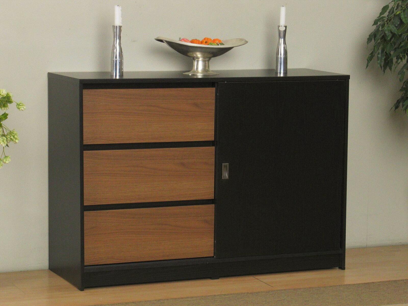 kommode cicci sideboard schubladen schrank highboard anrichte schwarz walnuss m bel wohnen. Black Bedroom Furniture Sets. Home Design Ideas