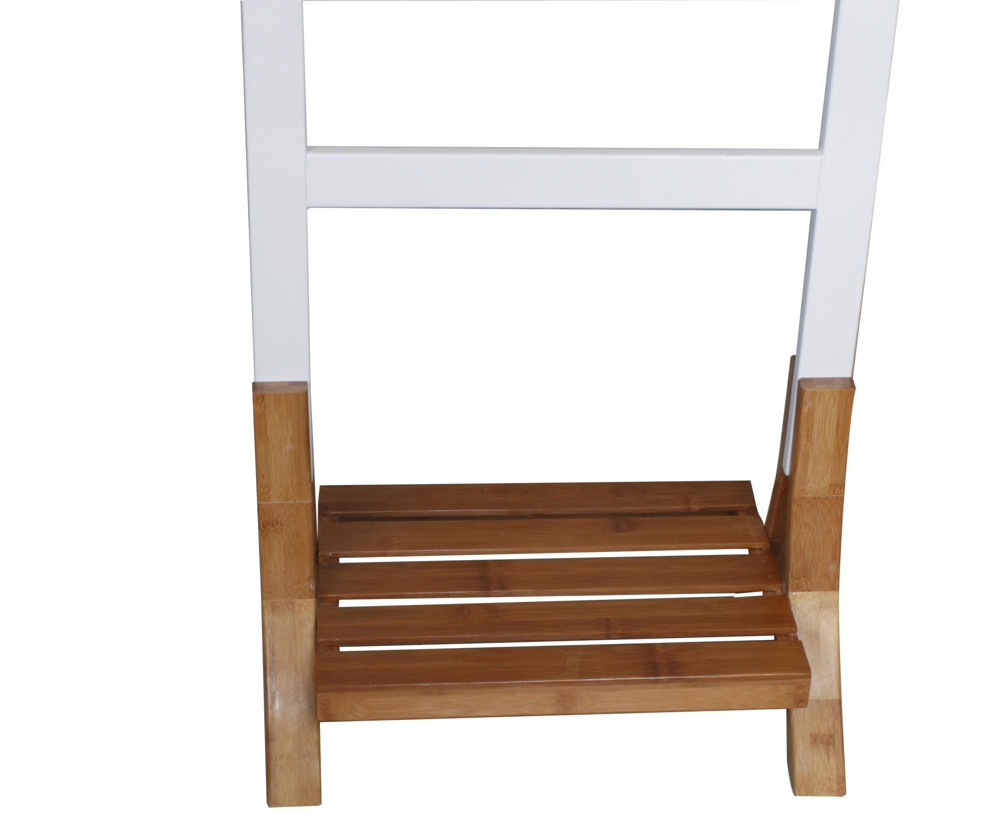 Madera bamb kleiderst nder toallero armario toallero de for Colgador toalla bano