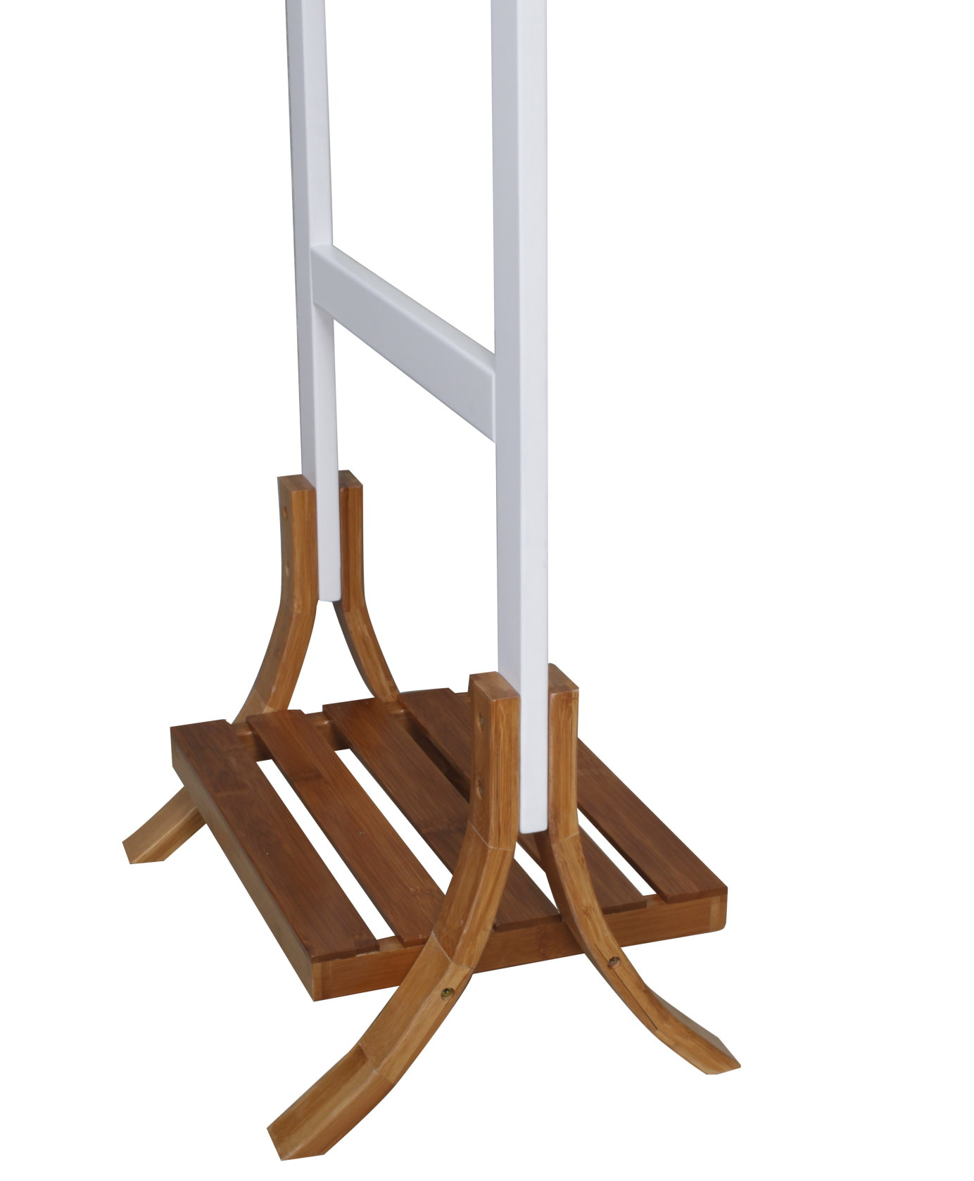 holz bambus kleiderst nder handtuchhalter garderobe handtuchstange bad st nder m bel wohnen. Black Bedroom Furniture Sets. Home Design Ideas