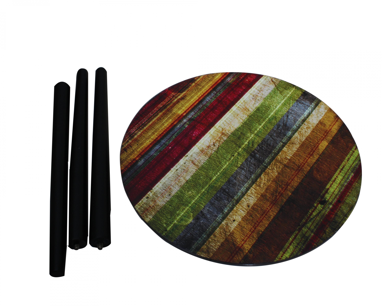 holz beistelltisch schwarz bunt tisch couchtisch wohnzimmer rund ablage kiefer ebay. Black Bedroom Furniture Sets. Home Design Ideas