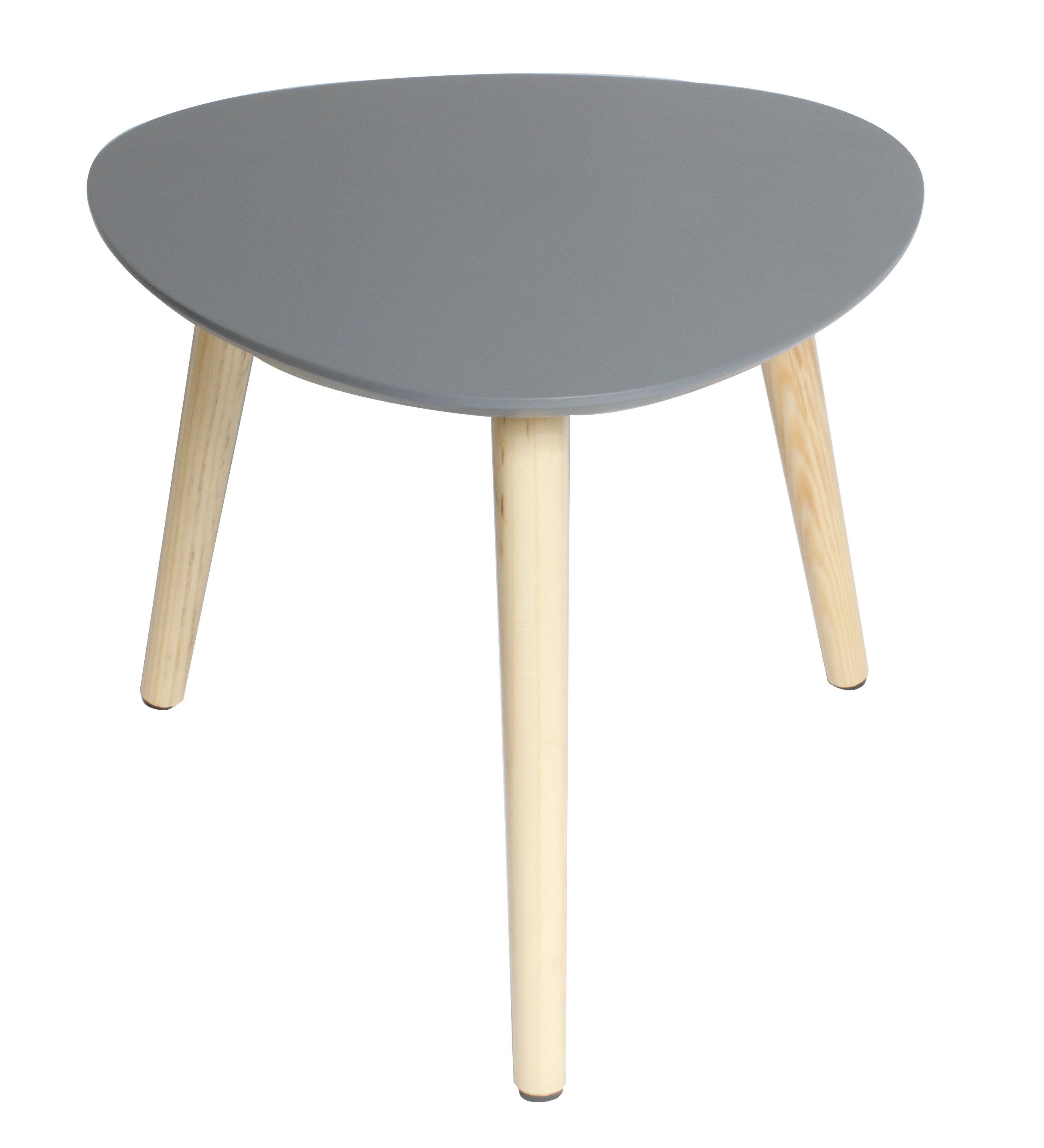 Beistelltisch grau sofatisch wohnzimmertisch tisch for Wohnzimmertisch esstisch