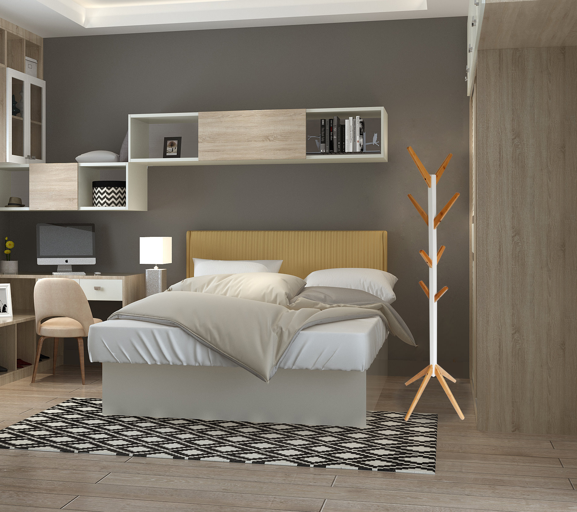 bambus holz gaderobenst nder garderobe st nder kleiderst nder kleiderhaken weiss ebay. Black Bedroom Furniture Sets. Home Design Ideas