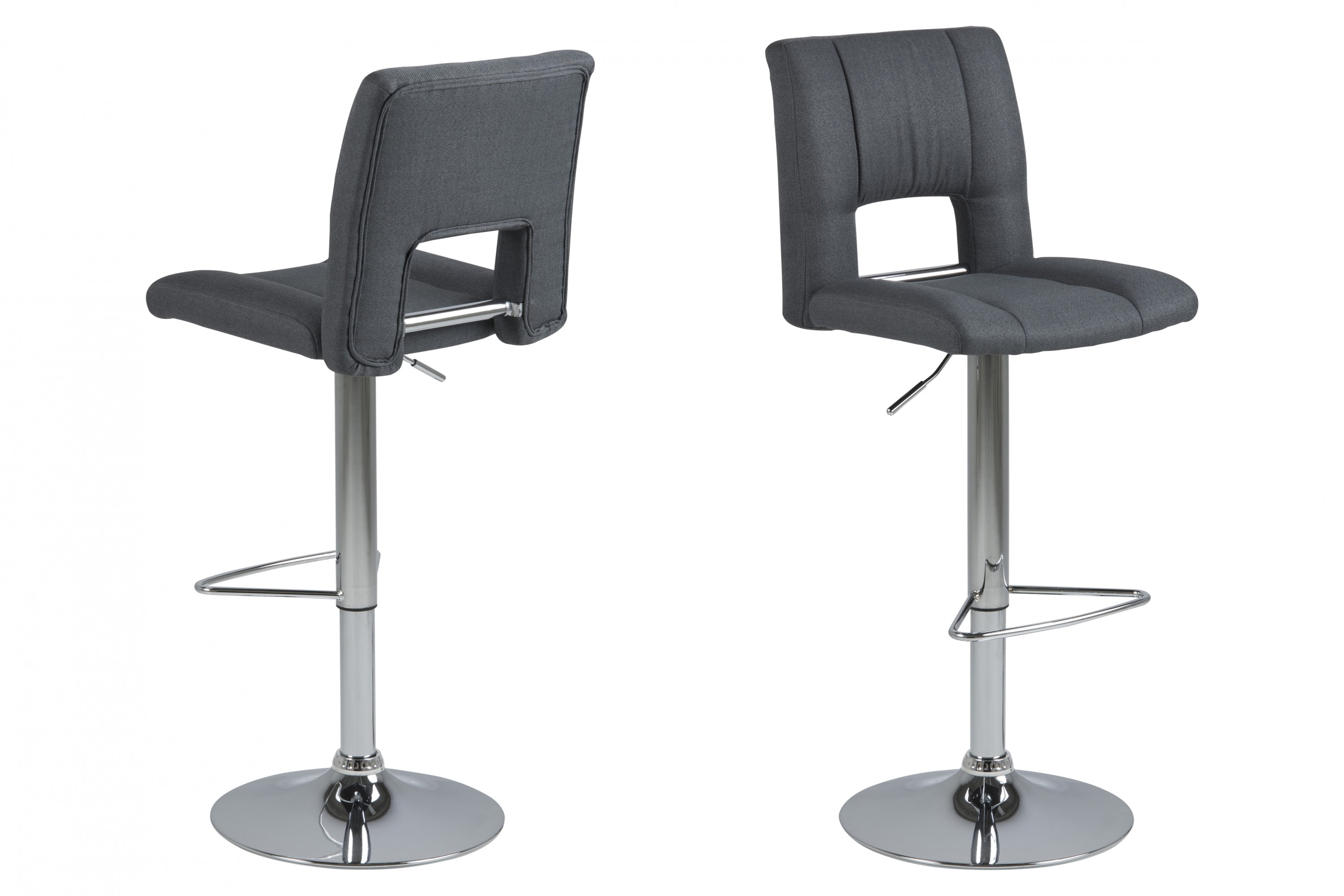 pkline 2x tabouret de bar sys en gris fonc comptoir chaise ebay. Black Bedroom Furniture Sets. Home Design Ideas
