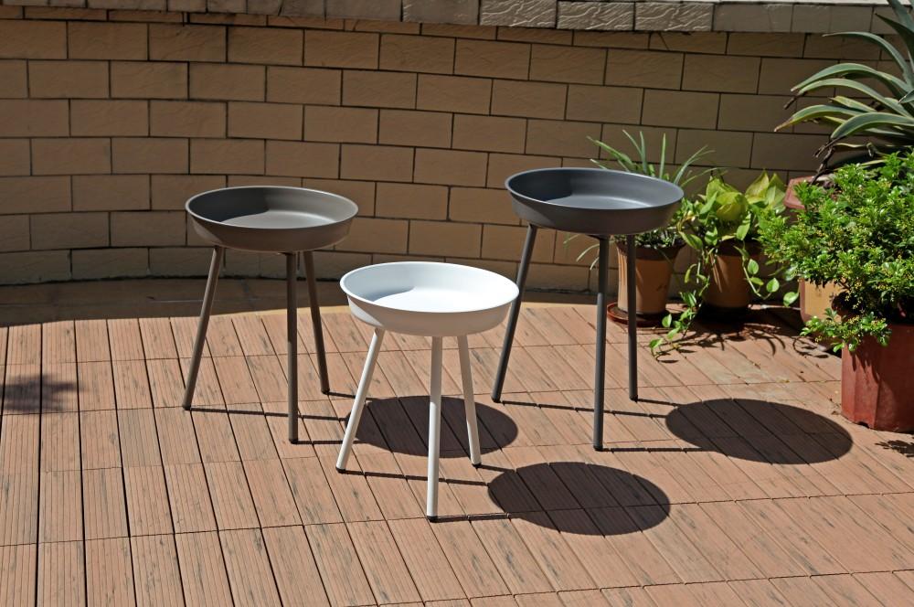 3tlg beistelltisch set gartentisch garten terrasse balkon tisch m bel 3 farbig garten m bel. Black Bedroom Furniture Sets. Home Design Ideas