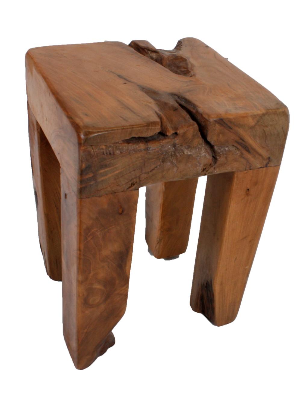 design teak holz sitz hocker holz 40cm teakholz holzhocker. Black Bedroom Furniture Sets. Home Design Ideas