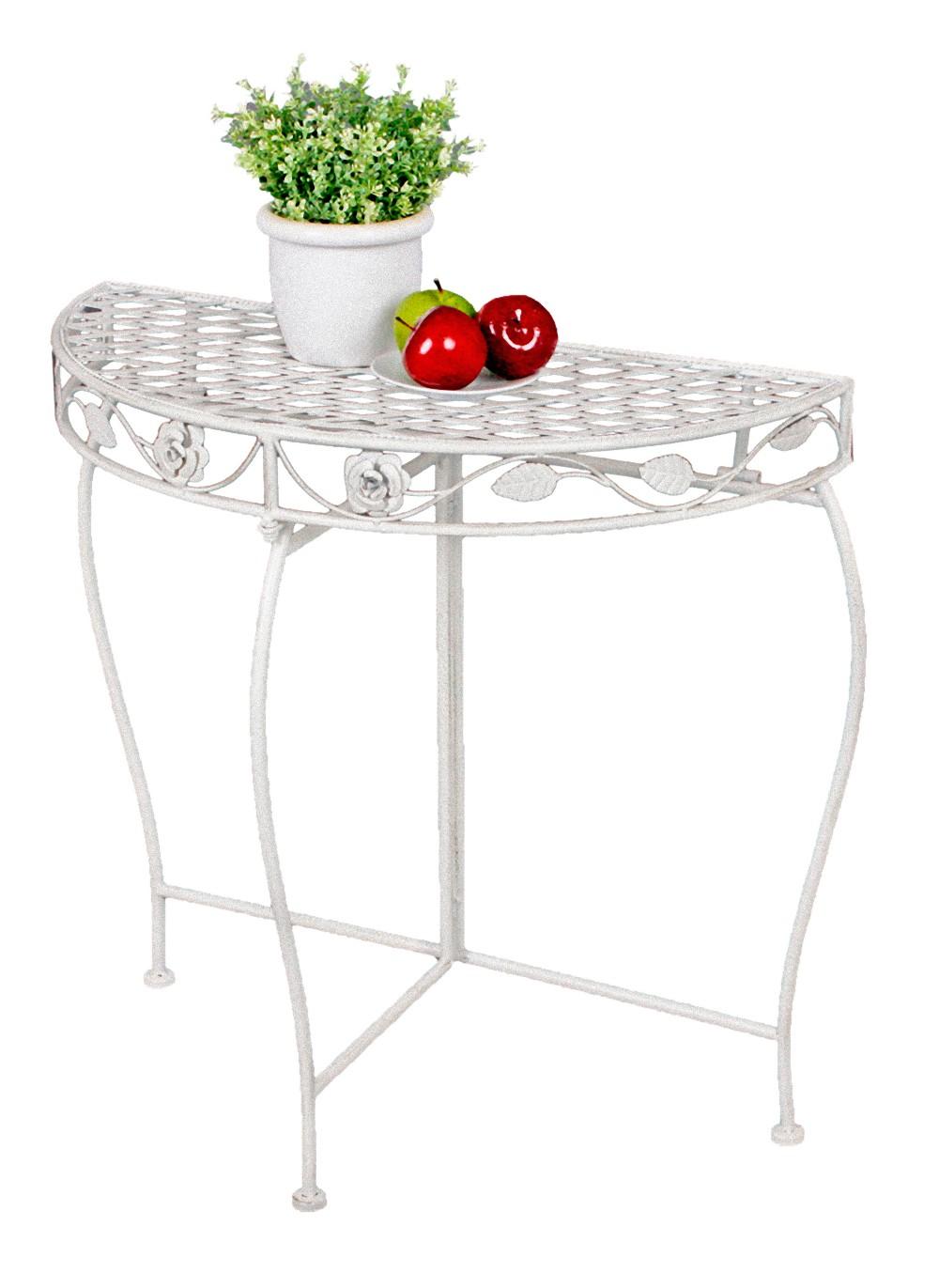 Beistelltisch antik metall  Metall Tisch Gartentisch Beistelltisch Antik weiß Garten Balkon ...