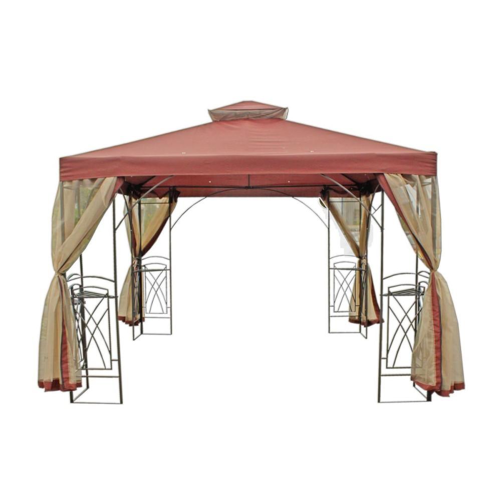 pavillon stahl gartenzelt partyzelt garten zelt. Black Bedroom Furniture Sets. Home Design Ideas