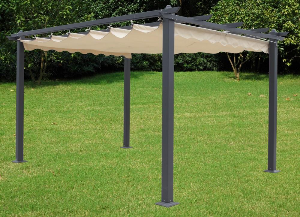 garten pavillon terrasse 3x4m berdachung sonnendach markise sonnenschutz m bel ebay. Black Bedroom Furniture Sets. Home Design Ideas