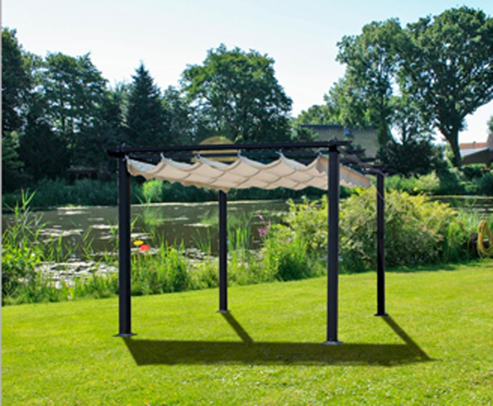 garten pavillon terrasse 3x4m berdachung sonnendach markise sonnenschutz m bel ebay. Black Bedroom Furniture Sets. Home Design Ideas