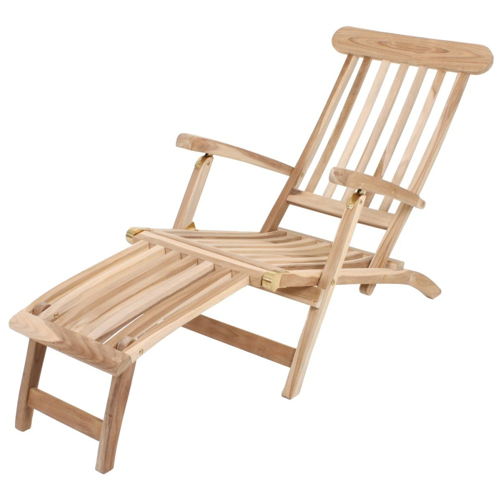 garden pleasure teak deckchair garten holz relax liege. Black Bedroom Furniture Sets. Home Design Ideas