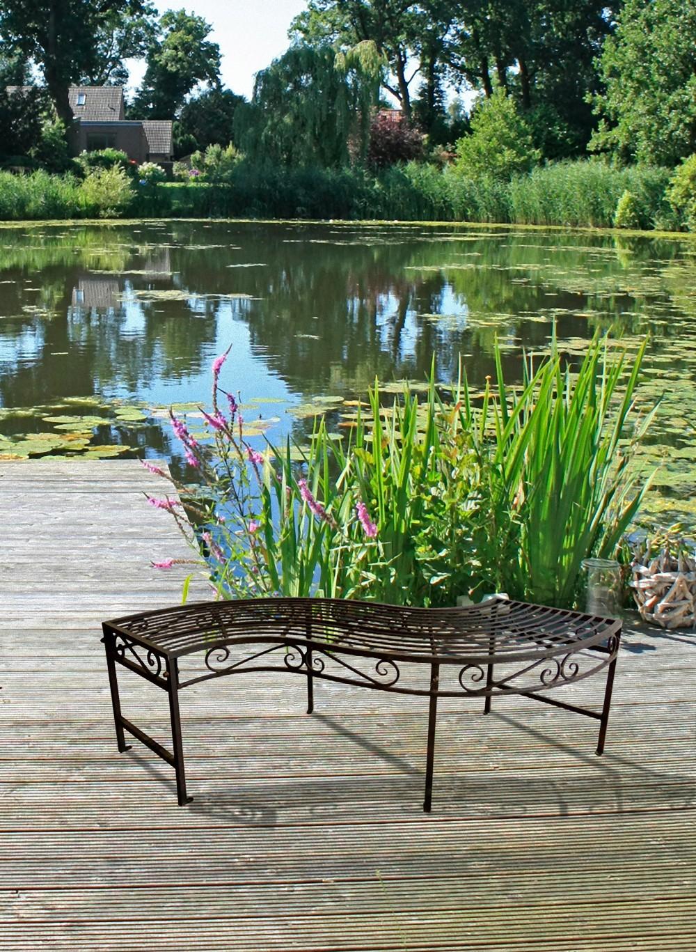 Garden pleasure gartenbank metall parkbank garten terrasse for Deko bank garten
