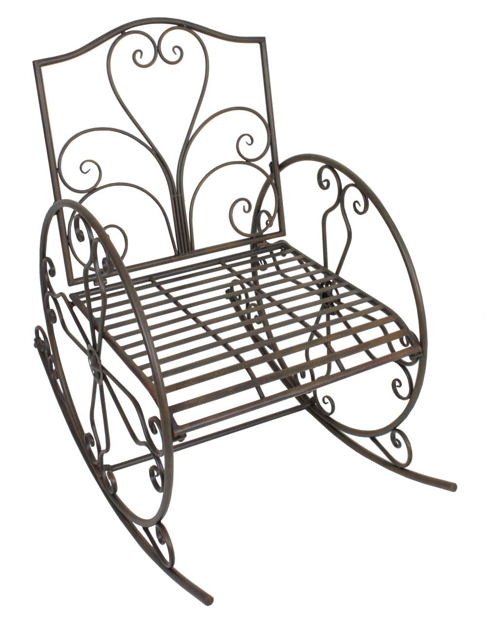 Metall schaukelstuhl schwingsessel gartenstuhl sessel for Schaukelstuhl antik