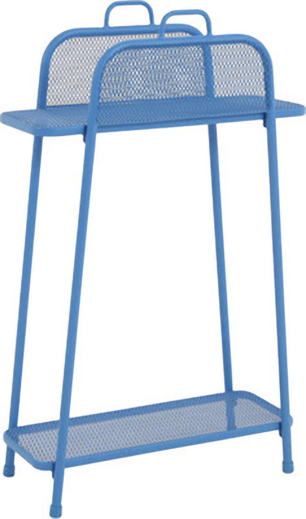 metall balkonregal blau balkon garten terrasse regal standregal m bel tisch ebay. Black Bedroom Furniture Sets. Home Design Ideas