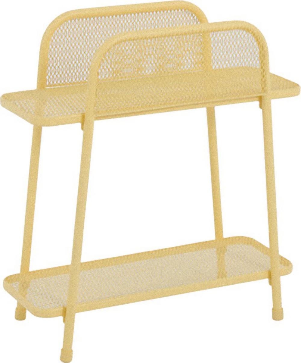 metall balkonregal gelb balkon garten terrasse regal. Black Bedroom Furniture Sets. Home Design Ideas