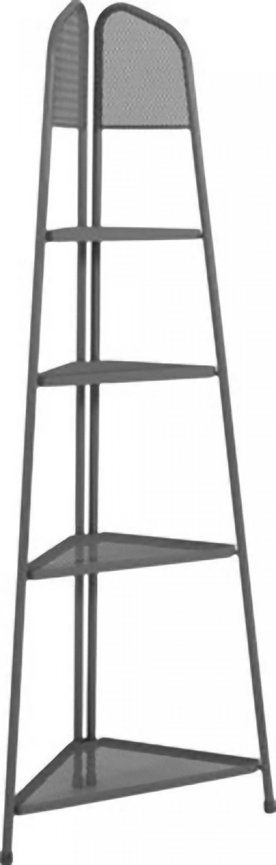 metall balkon eckregal regal standregal ablage aufbewahrung eckschrank grau dynamic. Black Bedroom Furniture Sets. Home Design Ideas
