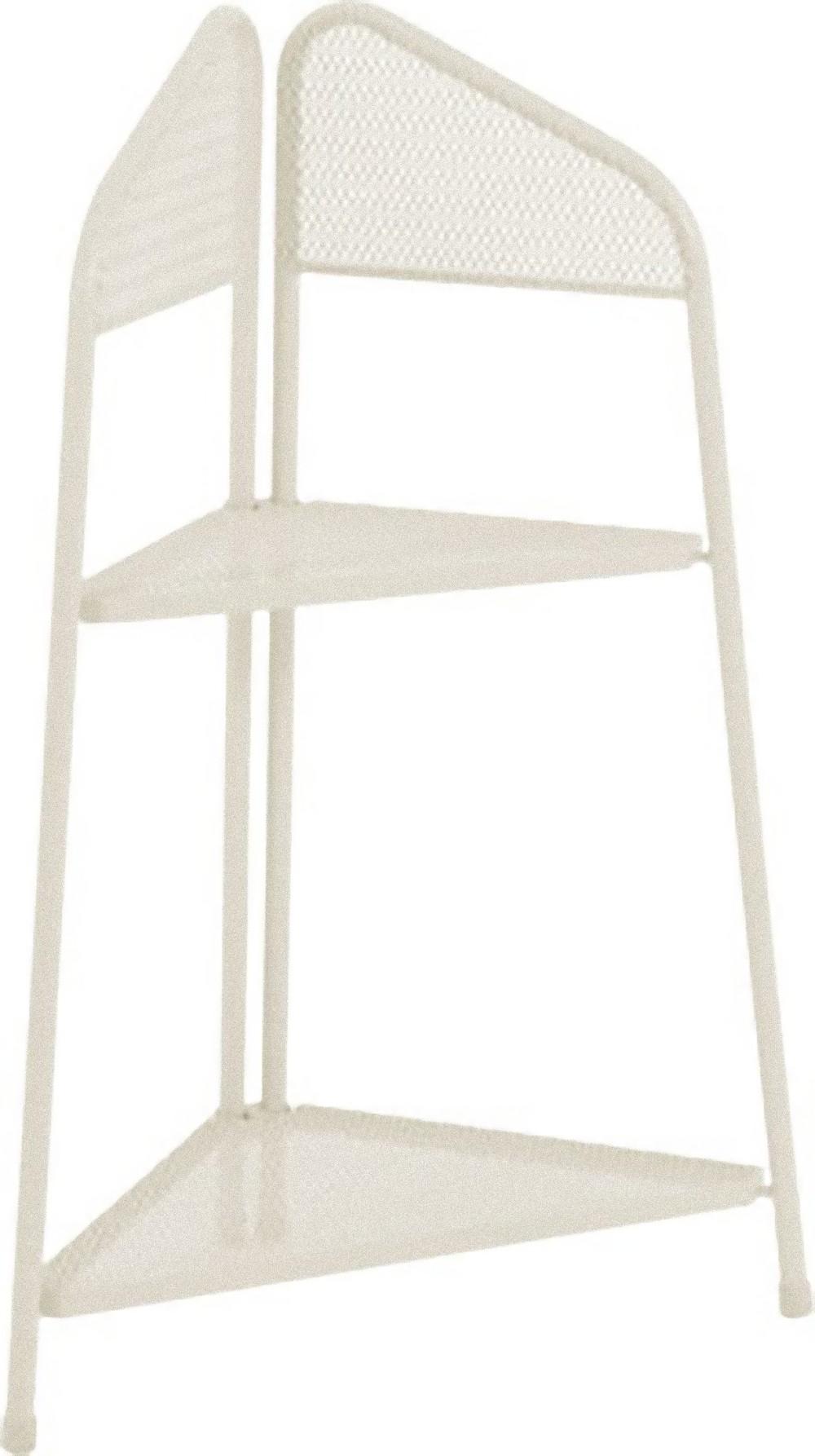 metall balkon eckregal regal standregal ablage aufbewahrung eckschrank beige dynamic. Black Bedroom Furniture Sets. Home Design Ideas