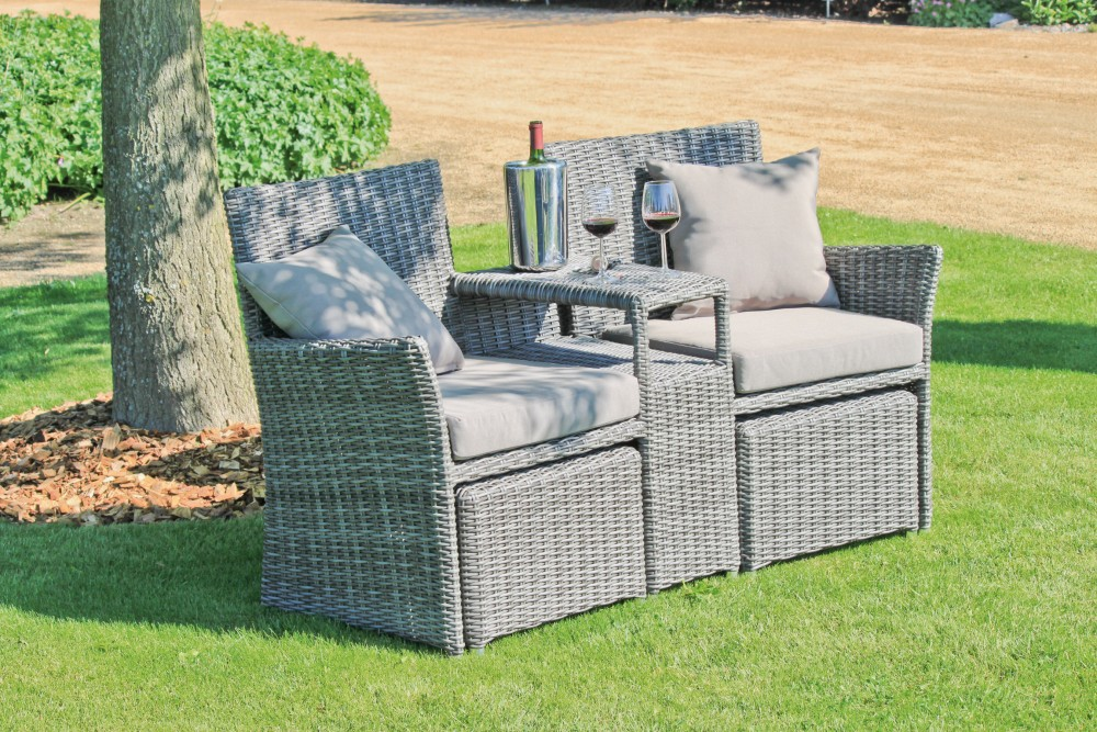 garten doppelsessel set terrasse sessel lounge sitzgruppe. Black Bedroom Furniture Sets. Home Design Ideas