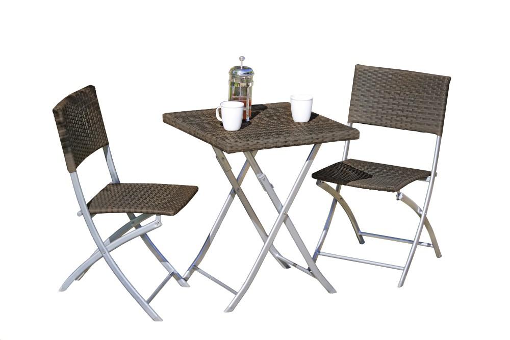 Garden Pleasure Balkon Set Tisch Stuhl Stühle Klapptisch Klappstuhl ...