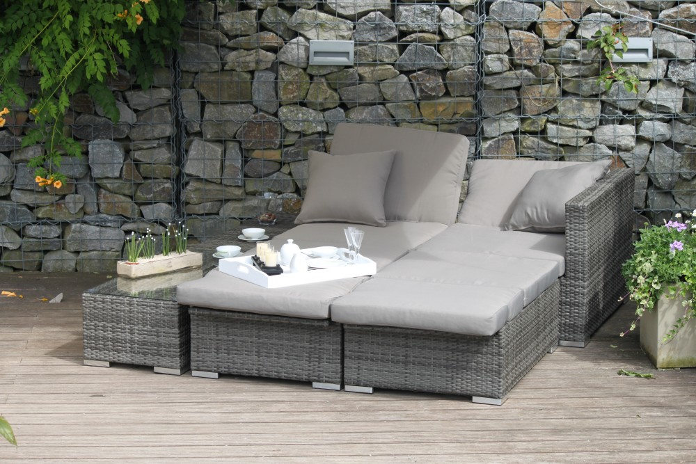 garten lounge sitzgruppe relax sofa tisch sessel terrasse m bel rattan optik garten m bel. Black Bedroom Furniture Sets. Home Design Ideas