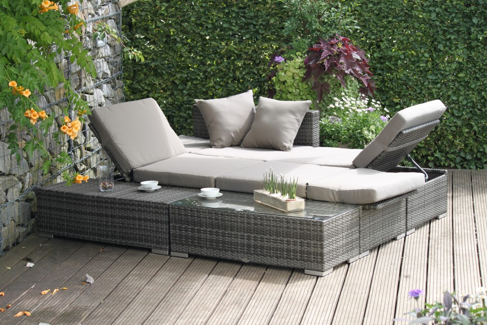 garten lounge sitzgruppe relax sofa tisch sessel terrasse m bel rattan optik ebay. Black Bedroom Furniture Sets. Home Design Ideas