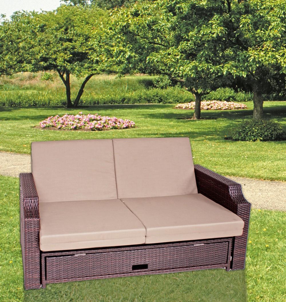 garden pleasure funktionssofa garten sofa lounge terrasse m bel rattan optik garten m bel. Black Bedroom Furniture Sets. Home Design Ideas