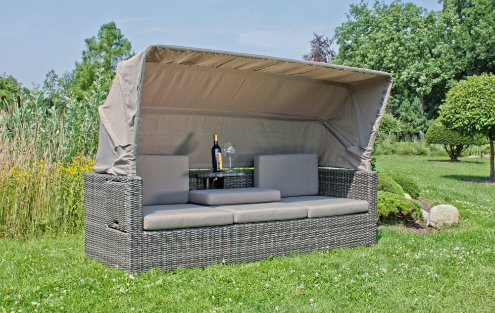 garten multi sofa dach gartenlounge terrassen lounge sitzgruppe m bel grau ebay. Black Bedroom Furniture Sets. Home Design Ideas