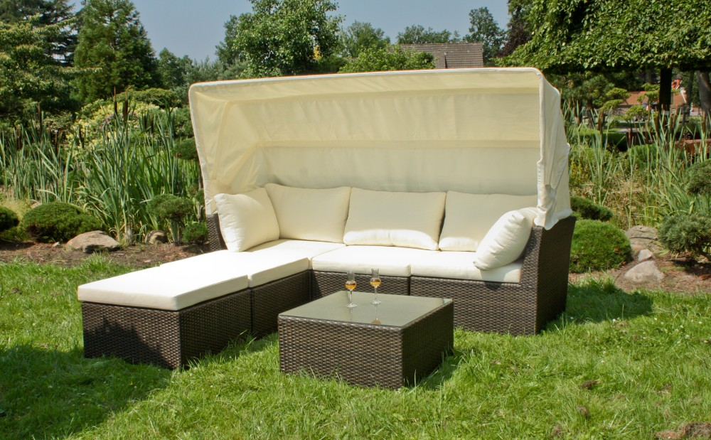garten sofa hocker tisch terrasse lounge sitzgruppe m bel rattan optik ebay. Black Bedroom Furniture Sets. Home Design Ideas