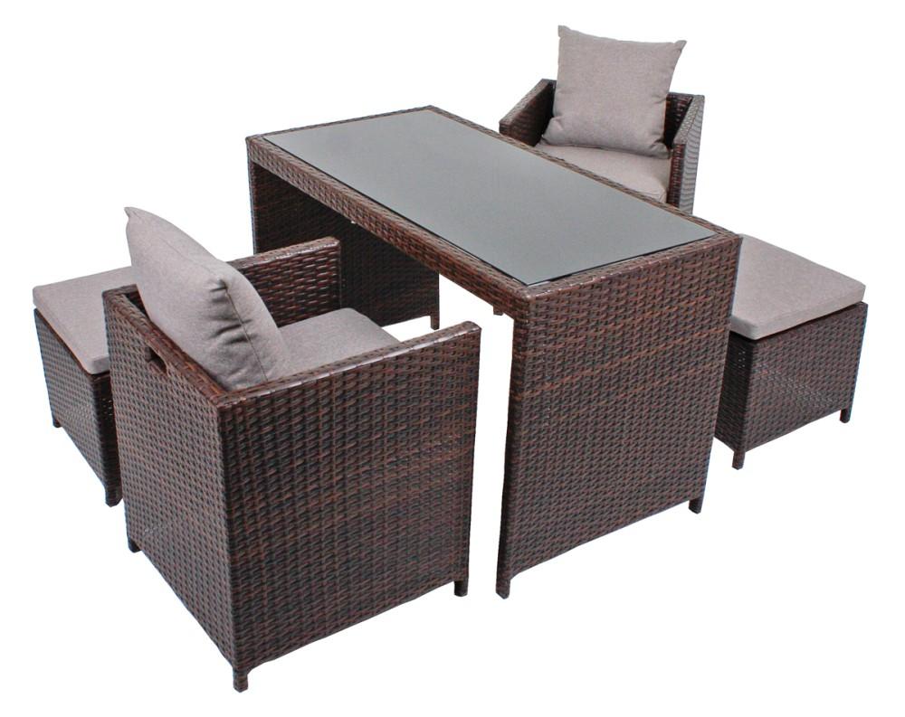 4tlg tischgruppe garten sitzgruppe tisch esstisch sessel. Black Bedroom Furniture Sets. Home Design Ideas