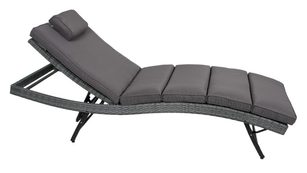 garden pleasure sonnenliege auflage langreo garten liege relaxliege grau 4041908097439 ebay. Black Bedroom Furniture Sets. Home Design Ideas