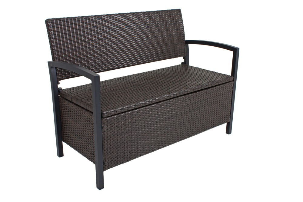 garden pleasure parkbank ferrara rattan optik garten bank. Black Bedroom Furniture Sets. Home Design Ideas