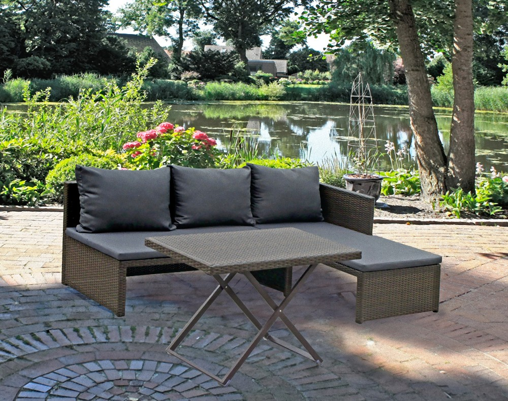 garten sofa set lounge sitzgruppe terrasse m bel rattan optik coffee ebay. Black Bedroom Furniture Sets. Home Design Ideas