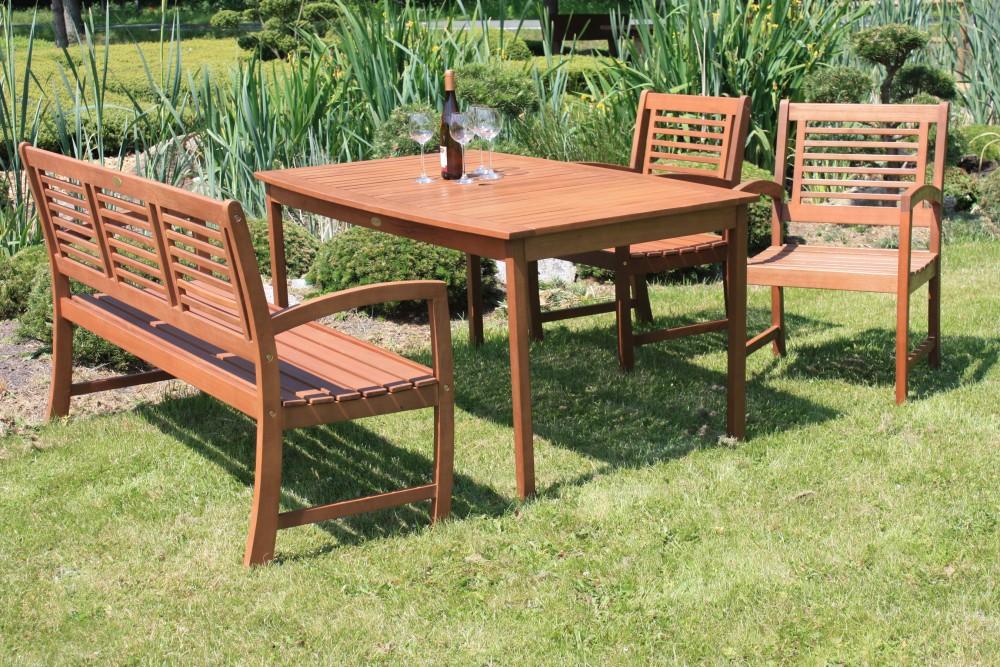 garden pleasure bank madison 3 sitzer eukalyptus holz. Black Bedroom Furniture Sets. Home Design Ideas