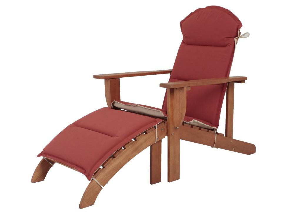 holz adirondack chair auflage garten sonnenliege relax liege m bel liegesessel ebay. Black Bedroom Furniture Sets. Home Design Ideas
