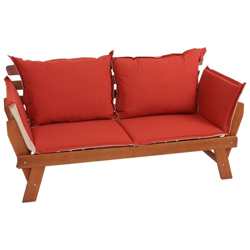 garden pleasure gartenbank kissen holz garten bank. Black Bedroom Furniture Sets. Home Design Ideas