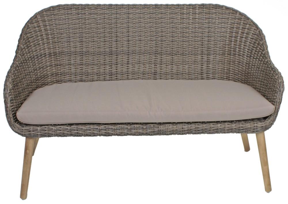 3tlg garten sofa stuhl set kissen lounge sitzgruppe. Black Bedroom Furniture Sets. Home Design Ideas