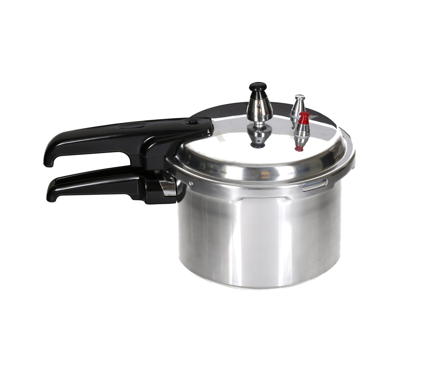 Aluminium Schnellkochtopf Bergner Kochtopf Dampfkocher Schnellkocher poliert