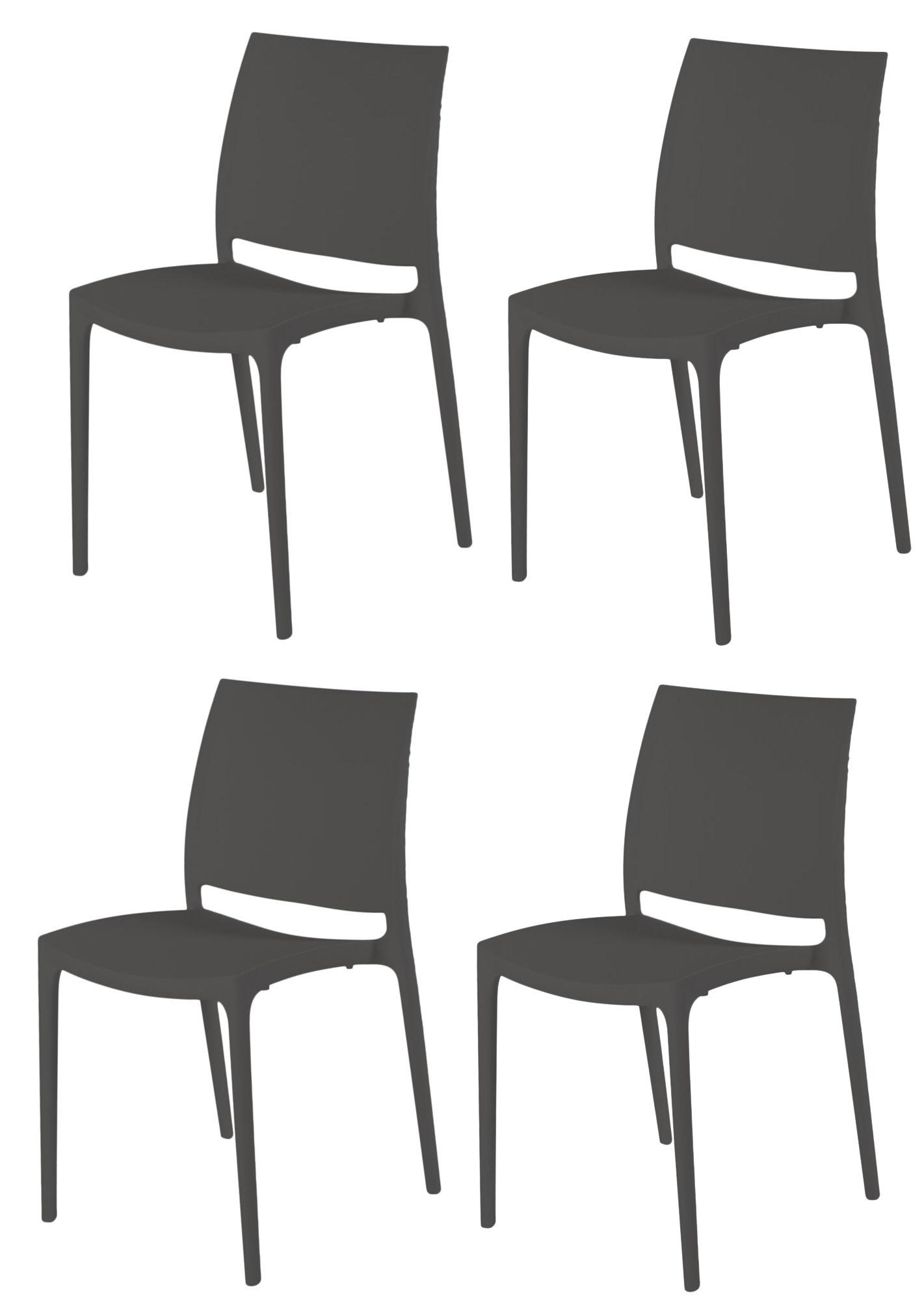 4x flexfurn stapelstuhl trix garten gastronomie bistro stuhl st hle stuhlset garten m bel. Black Bedroom Furniture Sets. Home Design Ideas