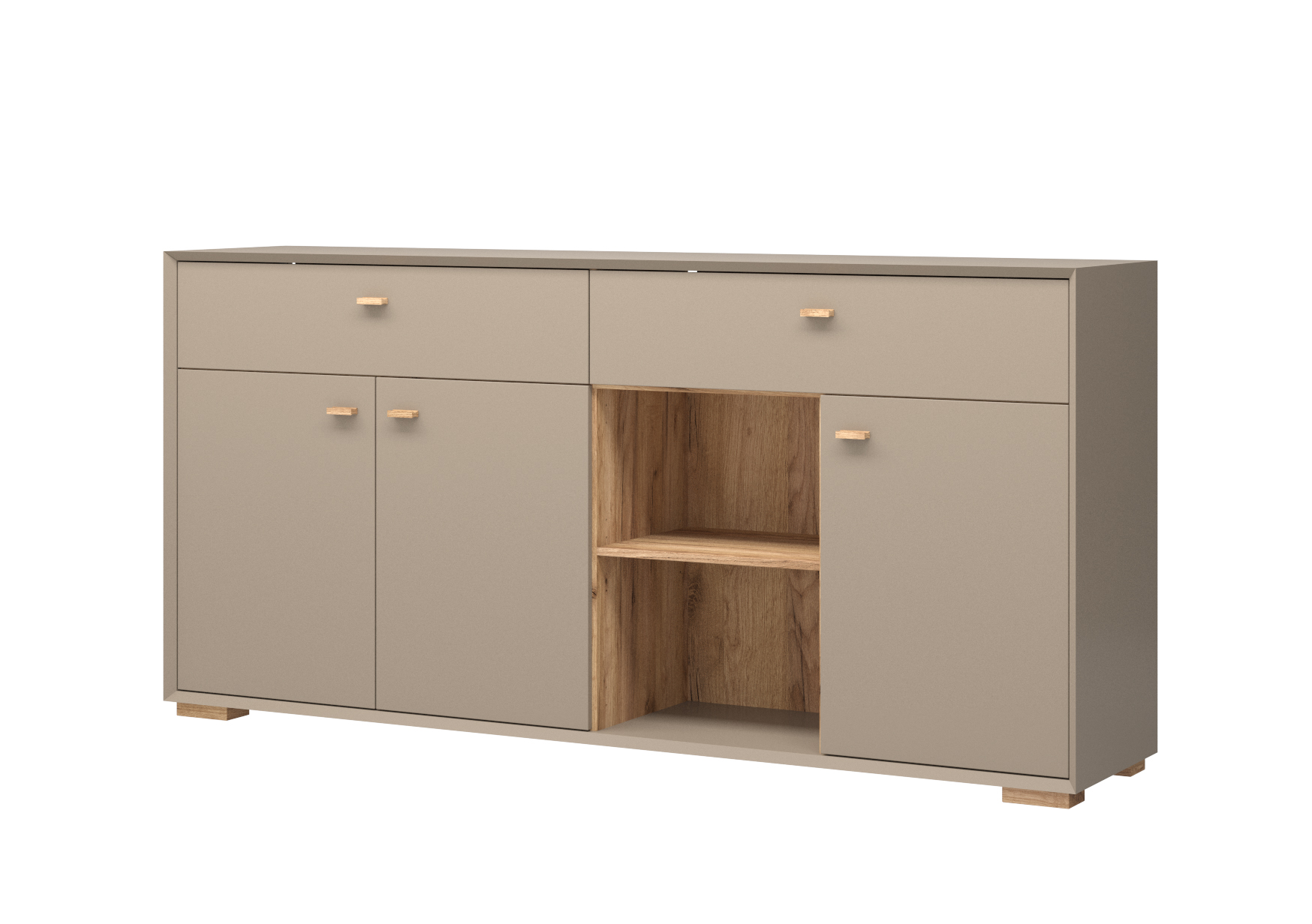 sideboard f hr steingrau navarra eiche nb kommode schrank anrichte m bel wohnen schr nke. Black Bedroom Furniture Sets. Home Design Ideas