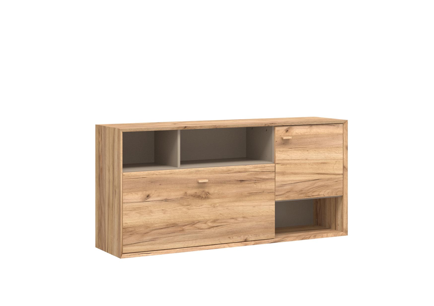 h ngeschrank f hr navarra eiche nb steingrau wandschrank schrank m bel wohnen schr nke. Black Bedroom Furniture Sets. Home Design Ideas