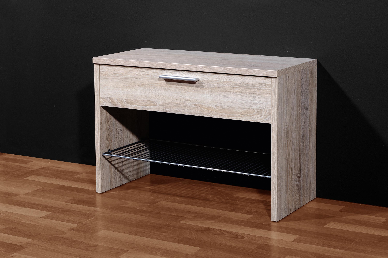 schuhbank sonoma eiche nb sitzbank bank flur diele ebay. Black Bedroom Furniture Sets. Home Design Ideas
