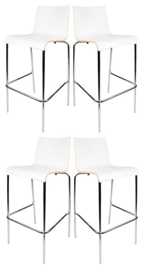 4x flexfurn barhocker scala hocker bar stuhl set st hle gastronomie wei m bel wohnen st hle. Black Bedroom Furniture Sets. Home Design Ideas