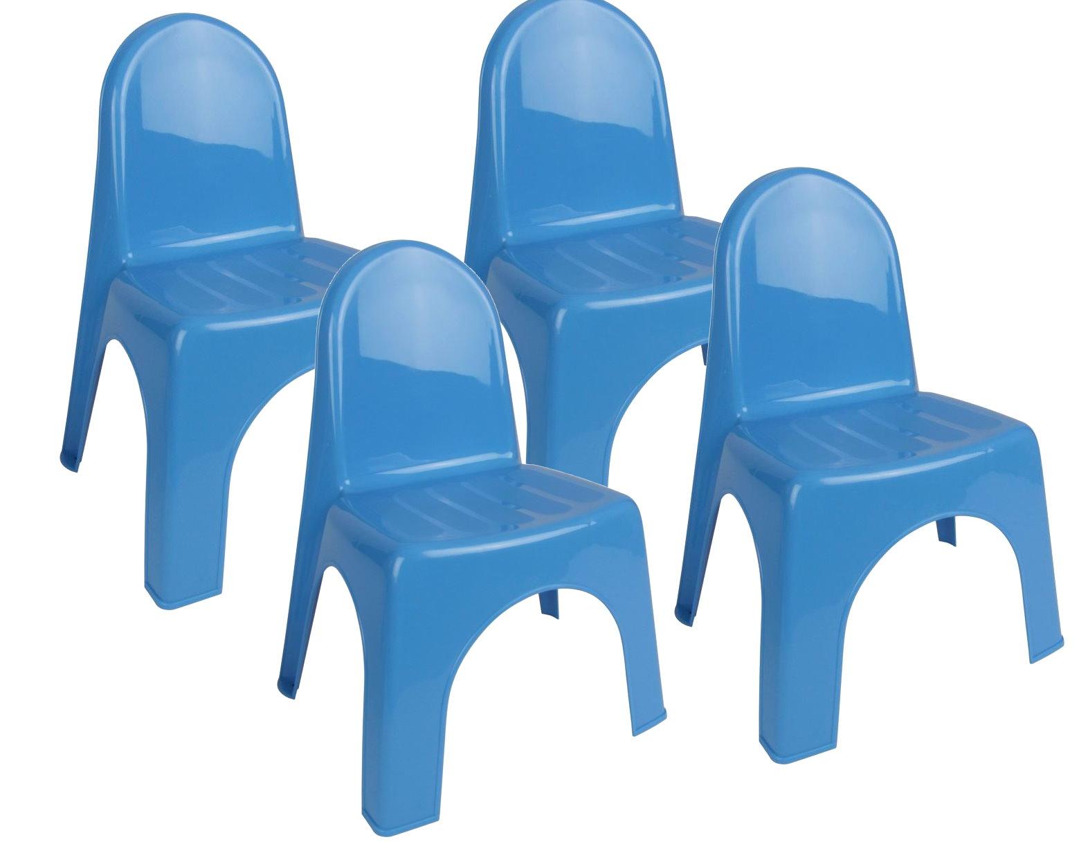 4x kinderstuhl garten kunststoff stuhl stapelstuhl kinder. Black Bedroom Furniture Sets. Home Design Ideas