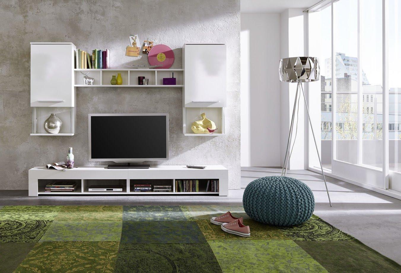wohnwand anbauwand wohnzimmer tv schrank schrankwand. Black Bedroom Furniture Sets. Home Design Ideas