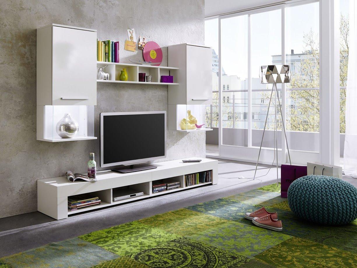 Wohnwand anbauwand wohnzimmer tv schrank schrankwand for Wohnzimmer anbauwand