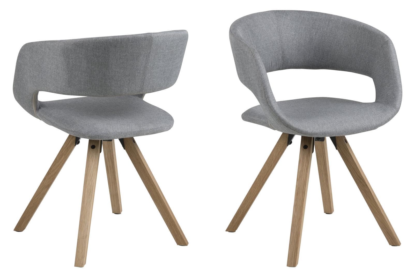 Pkline chaise de salle manger gramma en gris clair for Chaise de salle a manger gris clair