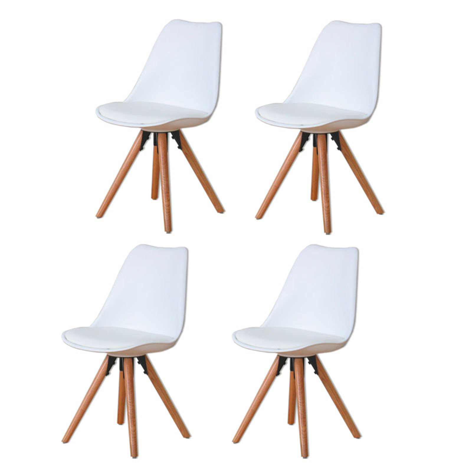 4 x esszimmerst hle nelle retro stuhl sitz gruppe wei. Black Bedroom Furniture Sets. Home Design Ideas